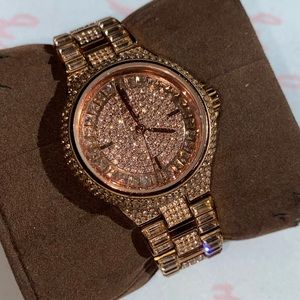 MK rose gold diamonds watch